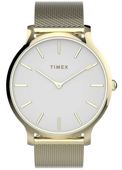 TIMEX Transcend™ 38mm Stainless Steel Mesh Band Watch TW2T74100