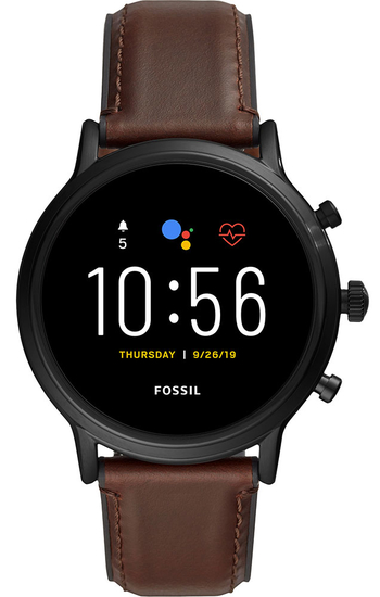 FOSSIL Gen 5 Smartwatch The Carlyle HR Dark Brown Leather FTW4026